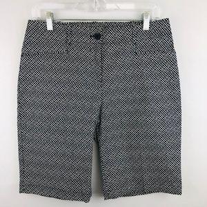 Talbots Print Pattern Bermuda Shorts 4